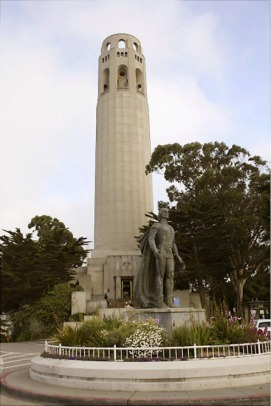 The top of Coit Tower inspired the pommel