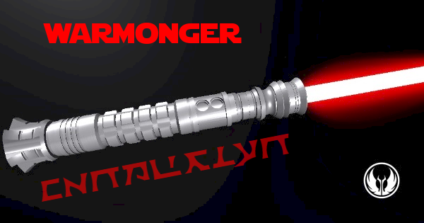 Warmonger Lightsaber (My complimentary gift to a friend)