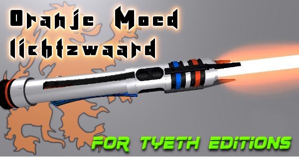 Oranje Moed Lichtzwaard – Orange Courage Lightsaber
