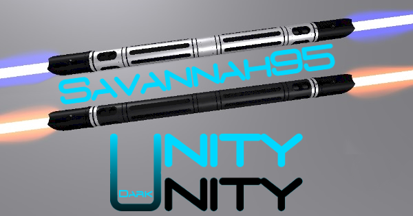 Unity and Dark Unity Saberstaff – Savannah95