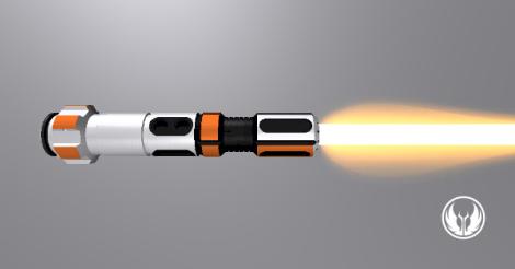 BB-8 Hilt Horizontal