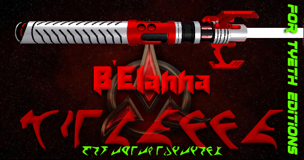B'Elanna Lightsaber – Klingon Kyber Weapon