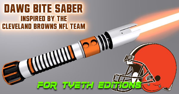 Dawg Bite Saber – Inspired by the Cleveland Browns NFL Team