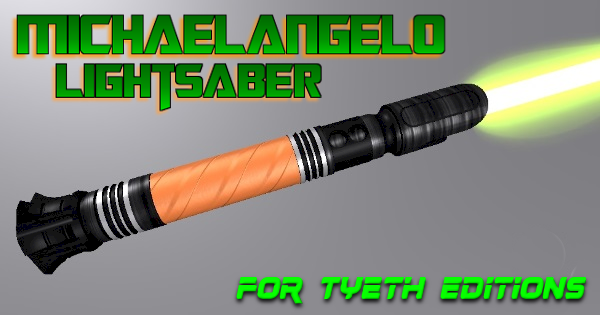 "Michaelangelo Lightsaber – Mikey wants a ""pizza"" the action"