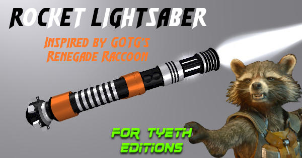 Rocket Lightsaber – Inspired by GOTG's Rocket Raccoon