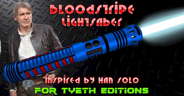 Bloodstripe Lightsaber – Inspired by Han Solo