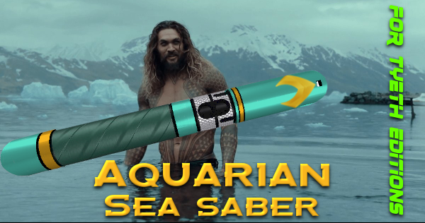 Aquarian Sea Saber  – A Watery Weapon for Aquaman