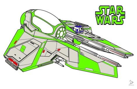 And my Jedi Starfighter!