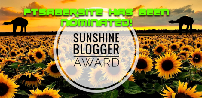 FTSabersite receives the Sunshine Blogger Award