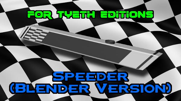 Speeder Lightsaber – Revisited in Blender 3D