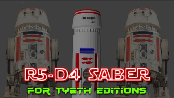 R5-D4 Saber – A saber for Red