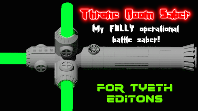 Throne Room Saber -A Fully Operational Battle Saber!
