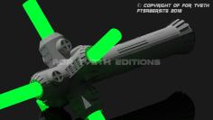 It is a crossguard saber.