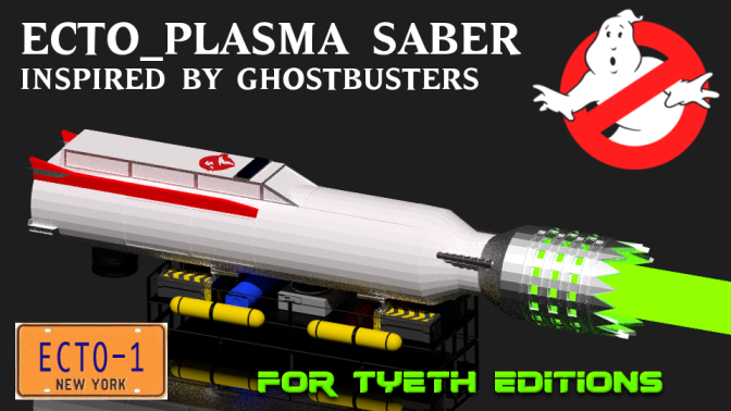 Ecto-Plasma Saber – Inspired by the 1984 movie Ghostbusters