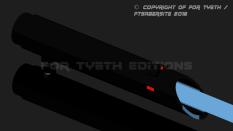En early test build (blue blade!)