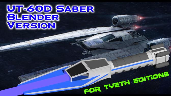 UT-60D Saber – Inspired by the Rogue One Gunship (Blender Version)