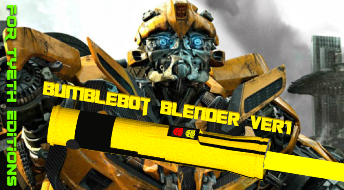 Bumblebot – A saber for Bumblebee (FT's Blender Version)