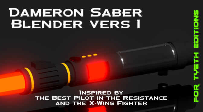 Dameron Saber – Blender Version 1