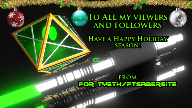 Happy Holidays From FTSabersite!