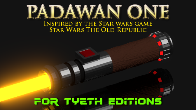 """Padawan One – Inspired by the videogame """"Star Wars The Old Republic"""""""