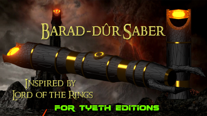 Barad-Dûr Saber – Inspired by Lord of the Rings