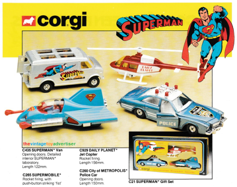 Superman Corgi 1980 TVTA