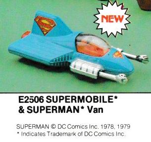 Superman Corgi b 1980 TVTA