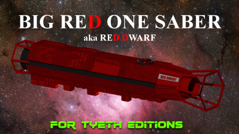 Big Red One Saber inspired by Red Dwarf