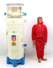 The Bionic Transport and Repair Station and Steve Austin figure