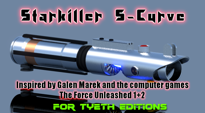 Starkiller S-Curve Saber – Inspired by Galen Marek and TFU 1+2