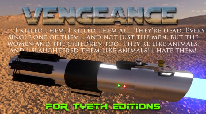 Vengeance Saber (AOTC) – My first Master Series hilt.