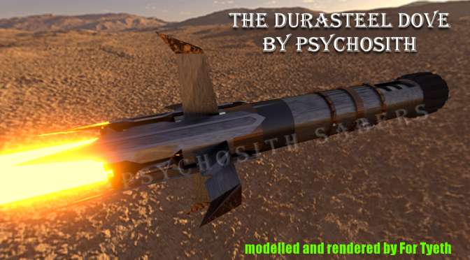 The Durasteel Dove by PsychoSith Sabers – A new guest contributor!
