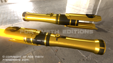 """Temple Saber"" twin hilts"