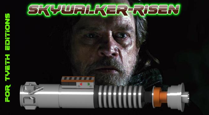 Skywalker-Risen saber – A Master Series saber.