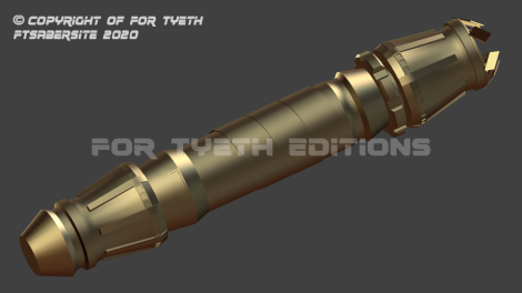 My 2020 Blender 3D Rey Crown Lightsaber 2
