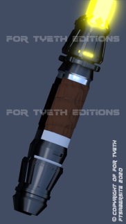 "Rey's ""Crown"" saber with added leather wrap 3"