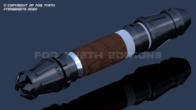 "Rey's ""Crown"" saber with added leather wrap"