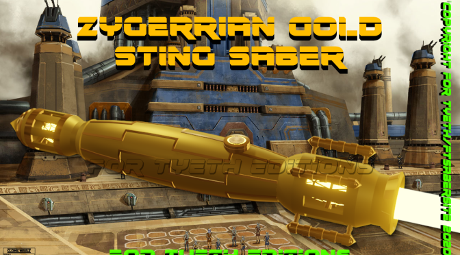 Zyggerian Gold Sting Saber